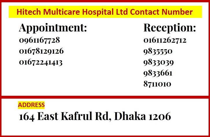HITECH MultiCare Hospital LTD Address CONtacts Appointments
