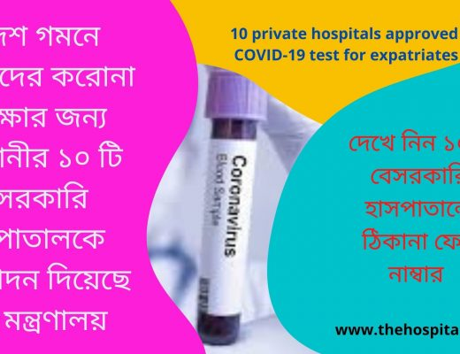 10 Private Hospitals Approved COVID-19 Test For Expatriates